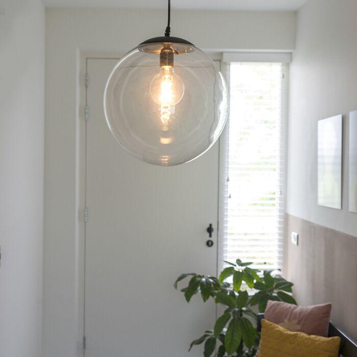 Lampă-suspendată-modernă-transparentă-de-35-cm---Pallon