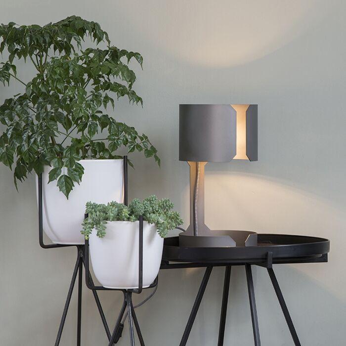 Lampă-de-masă-design-oțel-mat---Vals