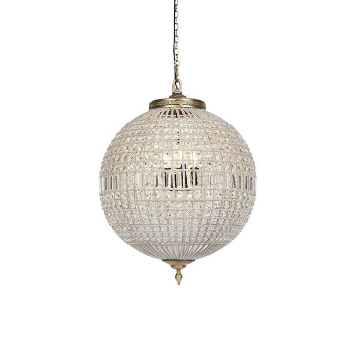 Lampă-suspendată-Art-Deco-cristal-cu-aur-65-cm---Kasbah