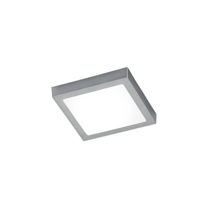 Plafoniera-pătrată-modernă-din-oțel-cu-sticlă,-inclusiv-LED---Băiat