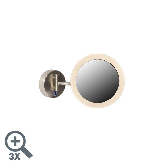 Oglindă-modernă-de-perete-crom-cu-LED-IP44---Barba