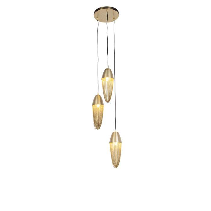 Lampă-suspendată-orientală-aurie-cu-3-lumini---Catena