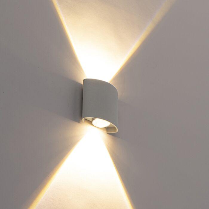 Aplica-de-perete-de-design-argintiu-cu-LED-uri-cu-2-lumini---Silly