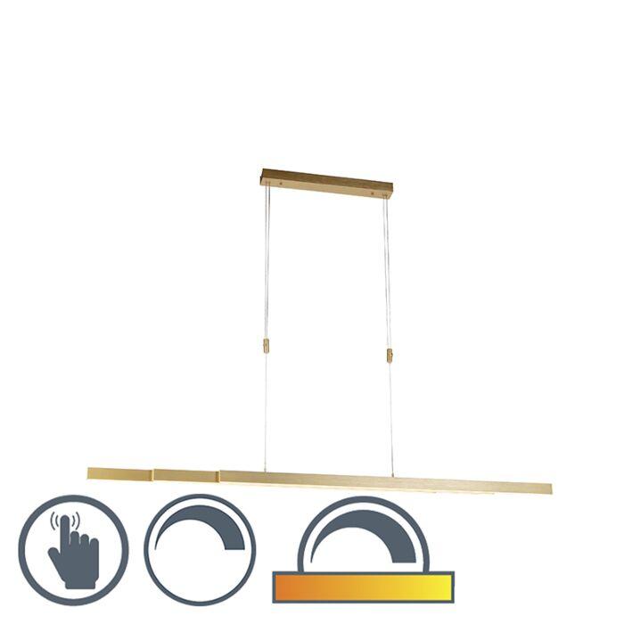Lampă-suspendată-reglabilă-din-alamă-slabă-până-la-caldă,-inclusiv-LED---Juliet