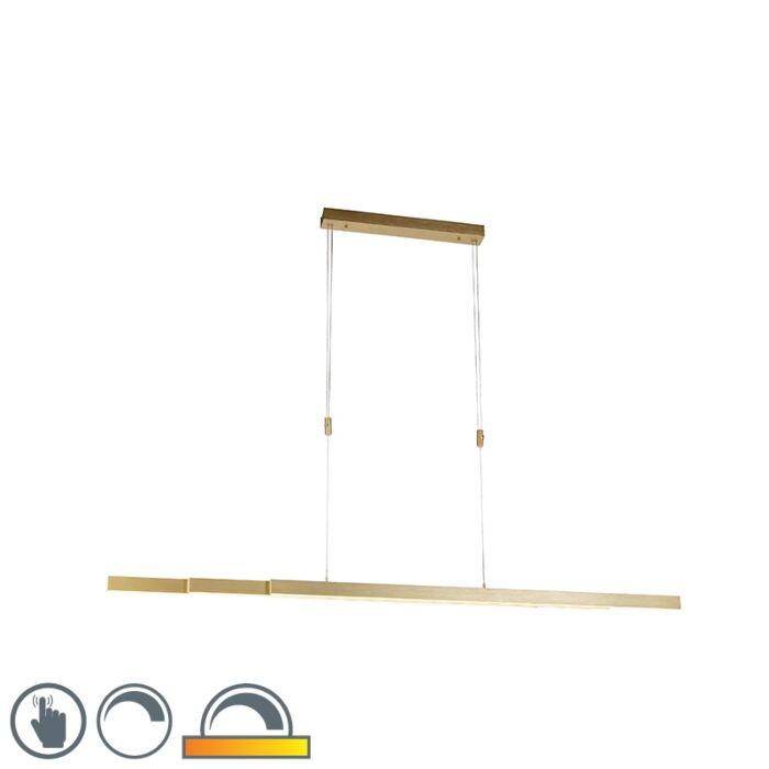 Lampă-suspendată-din-alamă-reglabilă,-slabă-până-la-caldă,-inclusiv-LED---Juliet