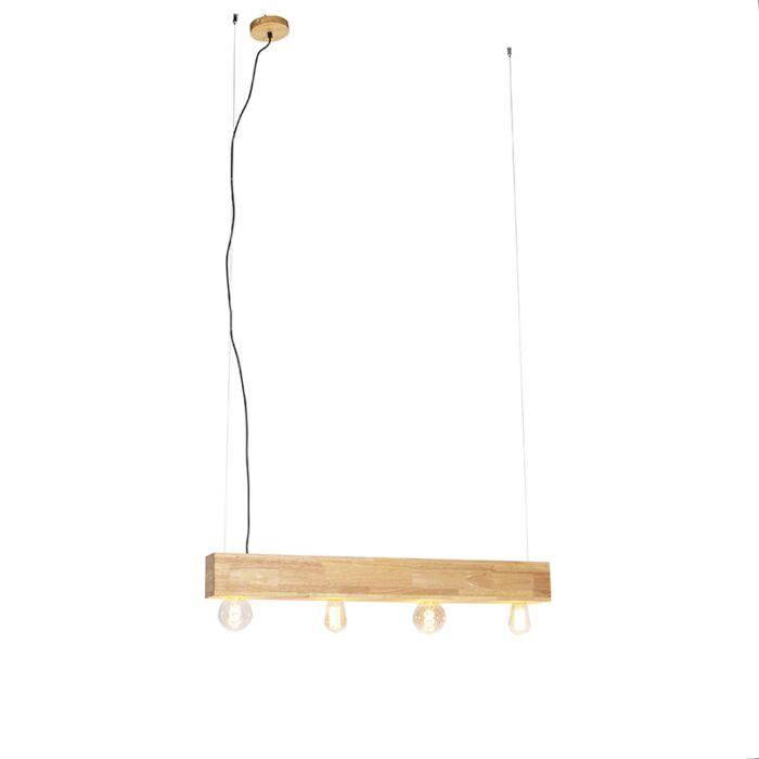 Lampă-suspendată-rurală-din-lemn-cu-4-lumini---Sema