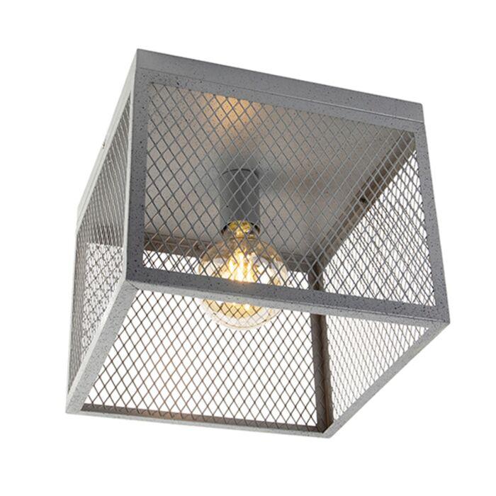 Plafoniera-industriala-argint-antic---Cage-Robusto